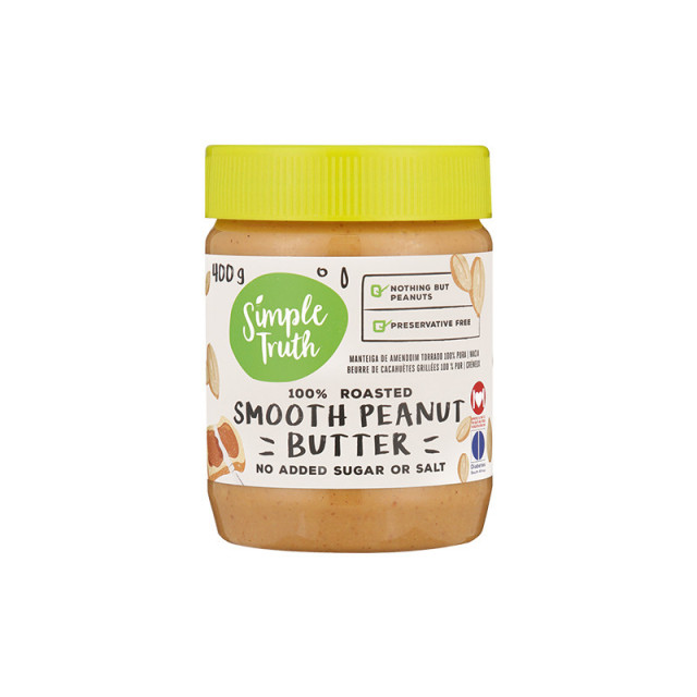 400g Simple Truth Crunchy or Smooth Peanut Butter