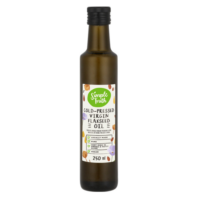 250ml Simple Truth Cold-Pressed Virgin Flaxseed Oil
