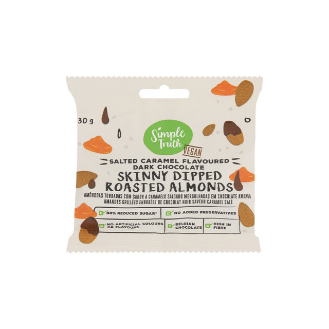 30g Simple Truth Skinny Dipped Almonds