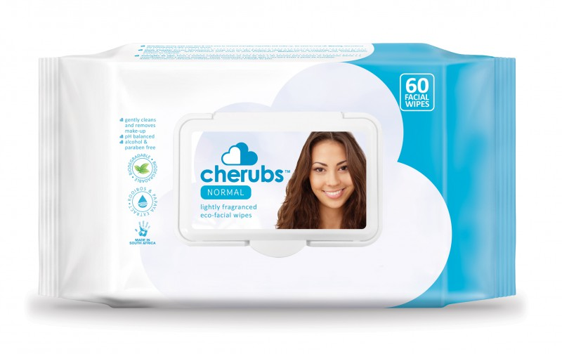 Cherubs Eco-Care Make-Up Remover Facial Wipes for Normal Skin