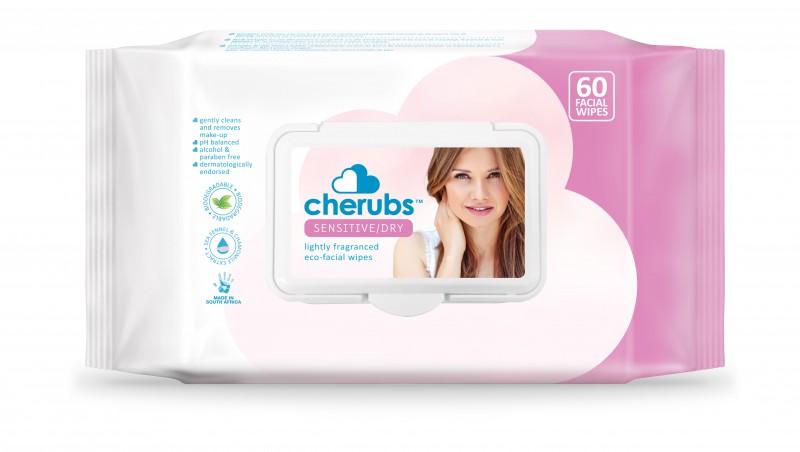 Cherubs Eco-Care Make-Up Remover Facial Wipes for Sensitive Skin